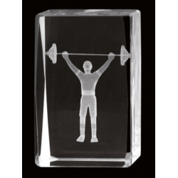 Cristal 3D - Halterofilia